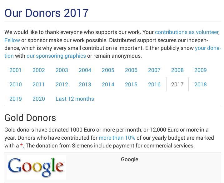 FSFE and Google 2017