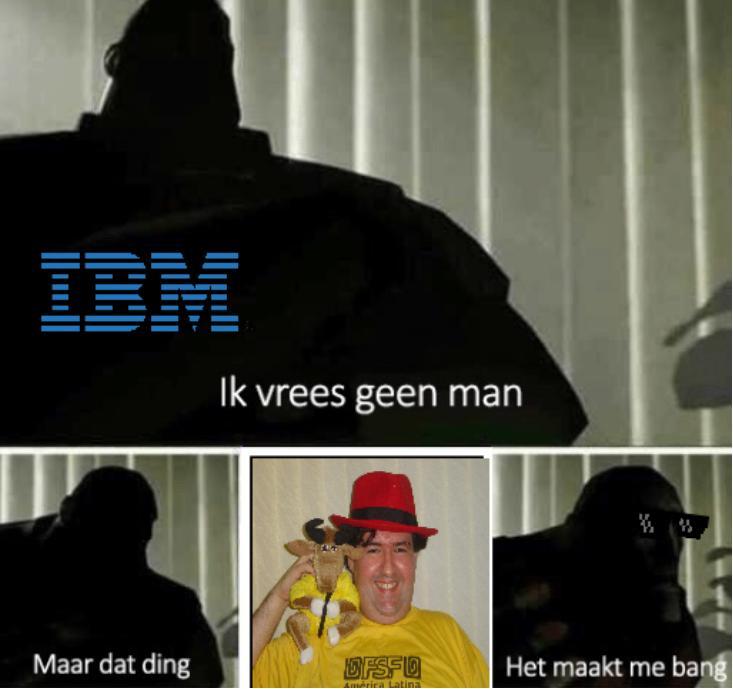 IBM: Ik vrees geen man