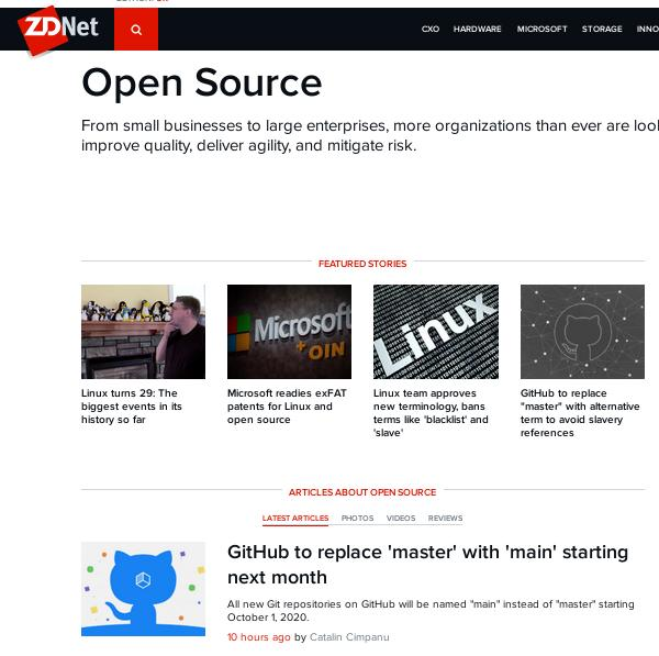 Open Source in ZDNet