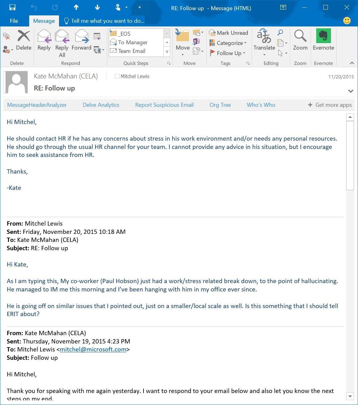 Paul Hobson e-mail #2
