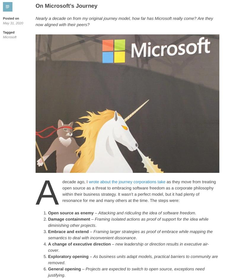 Simon Phipps on Microsoft in 2020