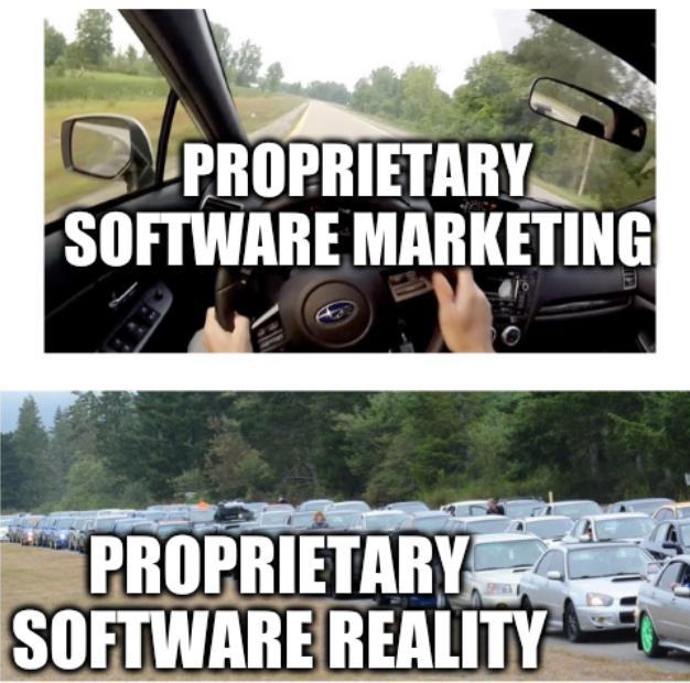 Subaru: Proprietary software marketing; Proprietary software reality