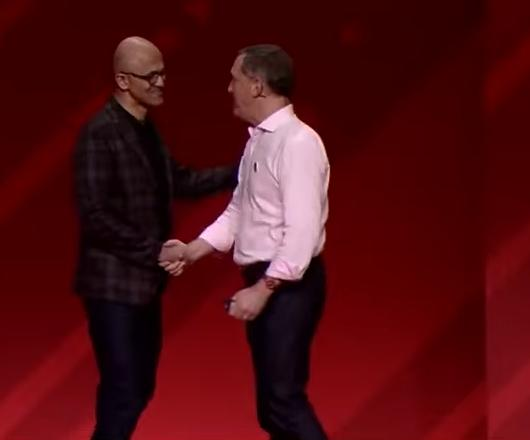 Red Hat Microsoft handshake closer