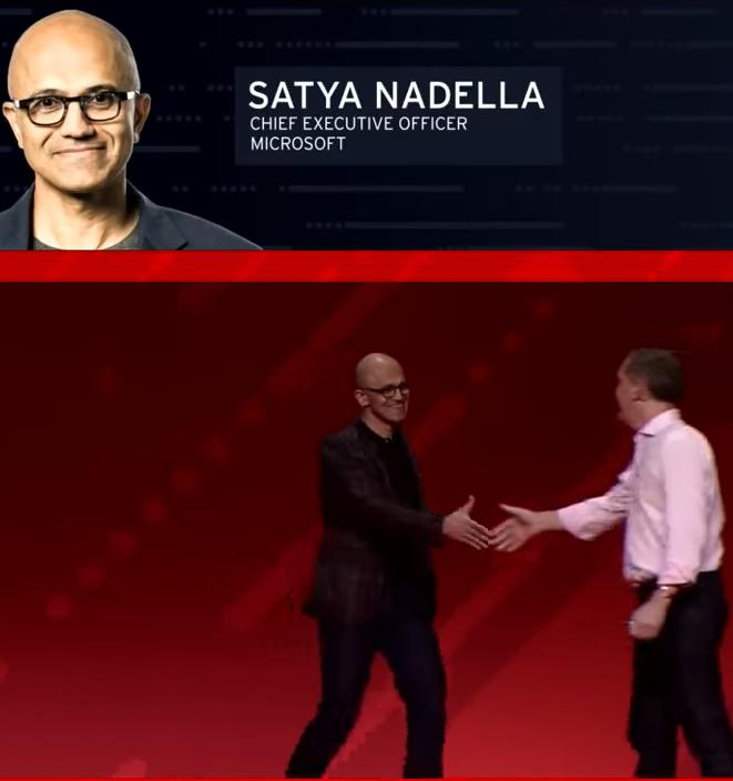 Red Hat Microsoft handshake