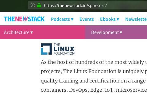 Linux Foundation as sponsor