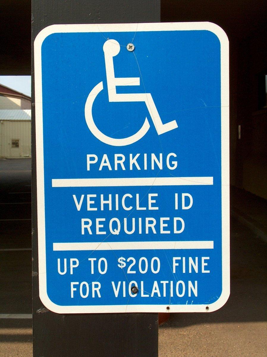 On wheelchair parking