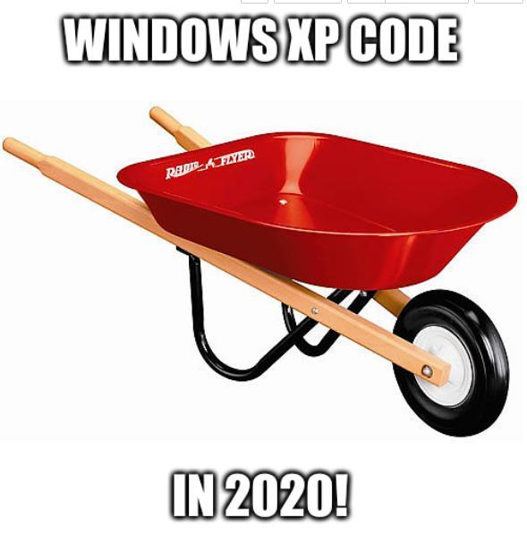 Windows XP code in 2020!