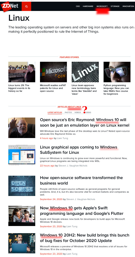 ZDNet farce