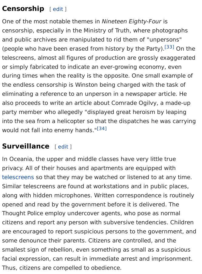 Wikipedia on Nineteen Eighty-Four