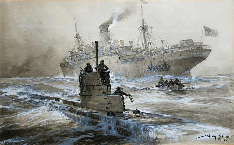 Willy Stöwer - Sinking of the Linda Blanche out of Liverpool