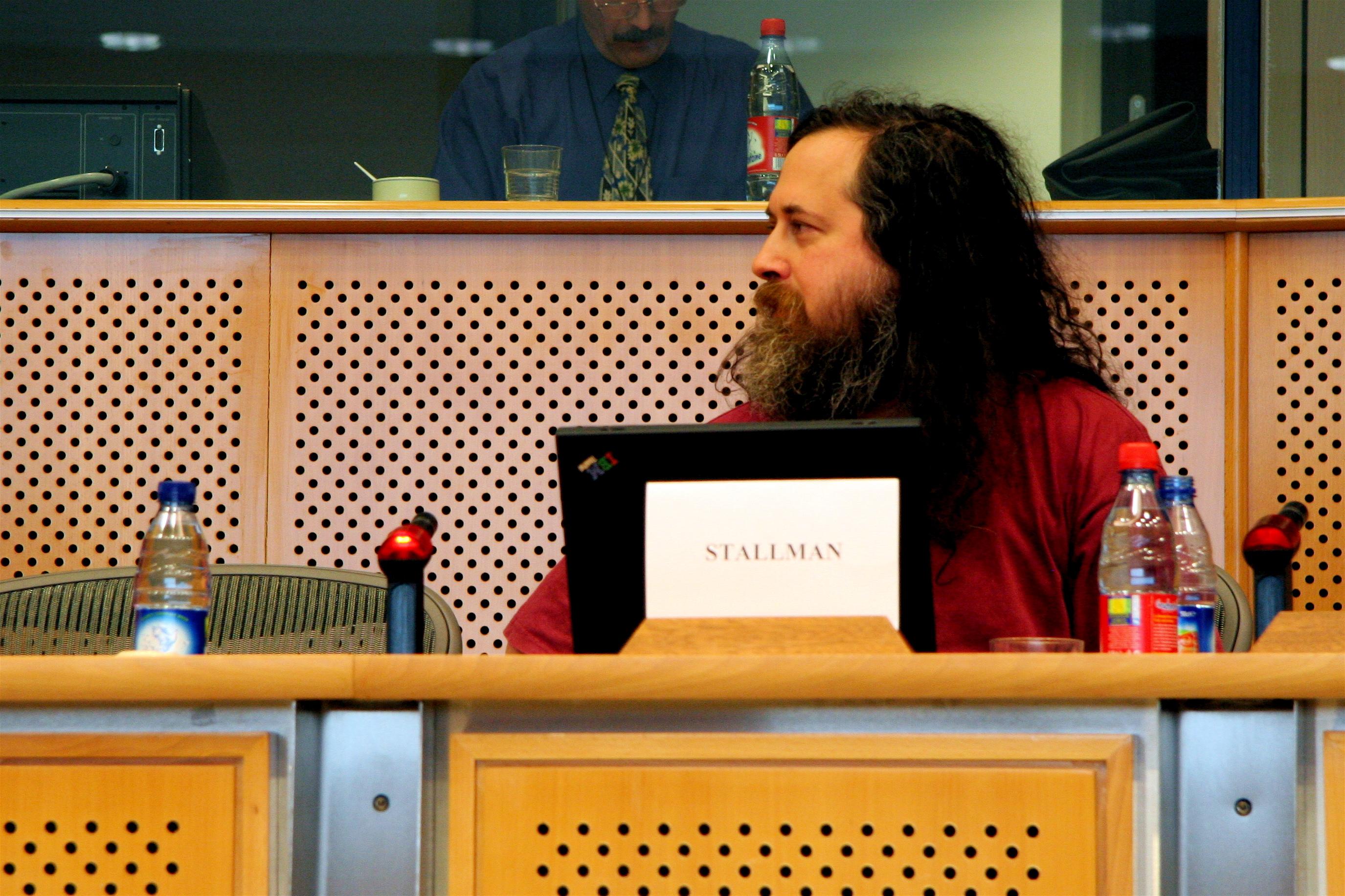 Richard Stallman at the European Parliament