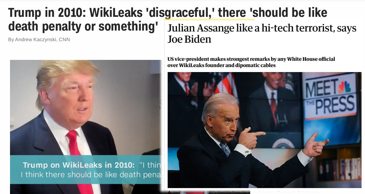 Trump in 2010: WikiLeaks 'disgraceful,' there 'should be like death penalty or something'
