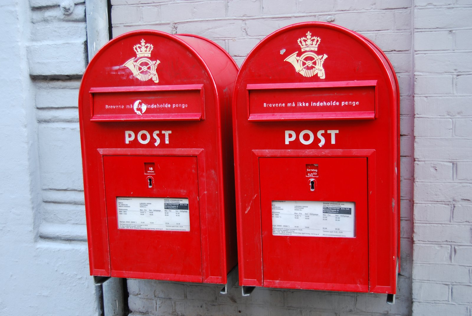 Danish Post Letter Boxes