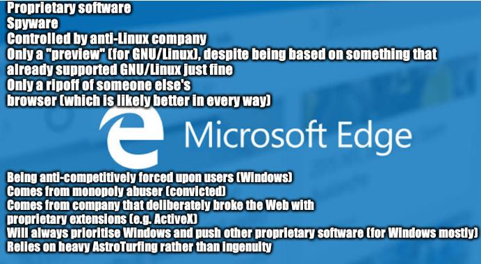 10 Reasons Why All This 'Edge for Linux' Coverage is a Total Farce: infographic