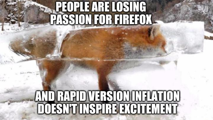 Firefox: People are losing passion for Firefox and rapid version inflation doesn't inspire excitement