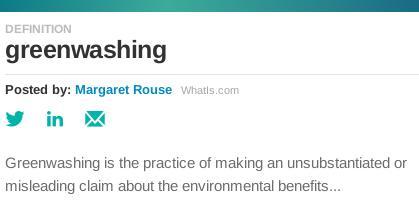 Greenwashing definition
