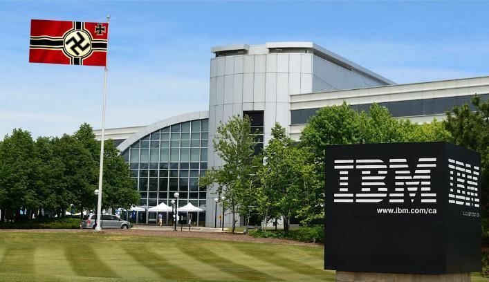IBM and Nazi flag
