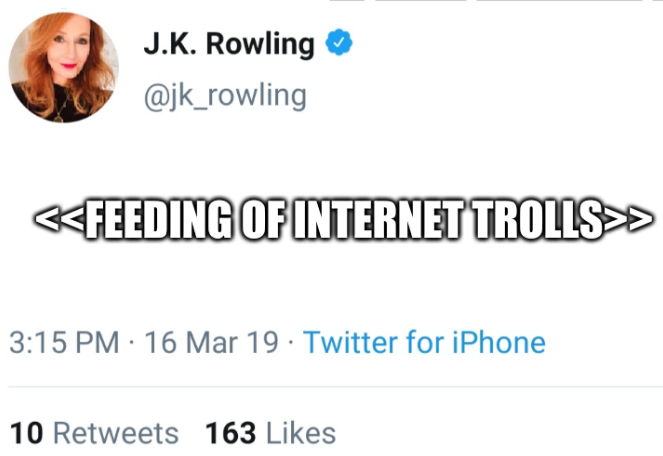 On feeding of Internet trolls