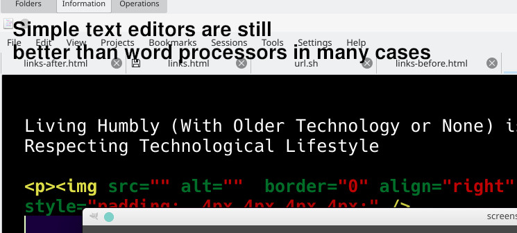 Simple text editors are still better than word processors in many cases