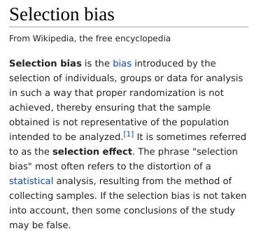 Selection bias