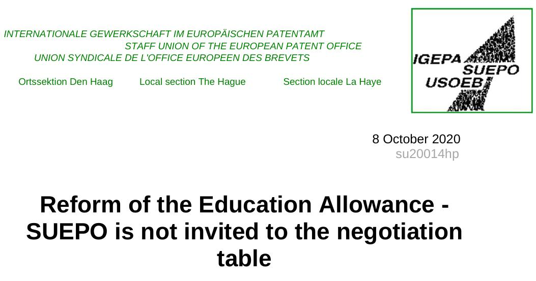 Reform of the education allowance
