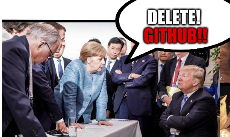 Merkel: Delete GitHub