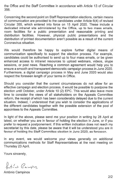 Campinos letter to CSC 2020, page 2