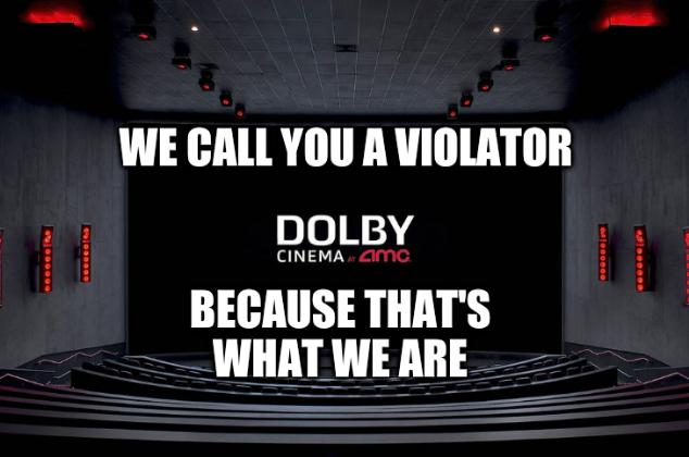 We call you a violator because that's what we are
