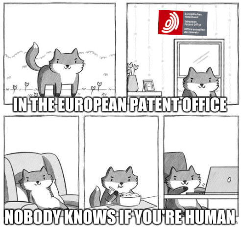 In the European Patent Office nobody knows if you're human