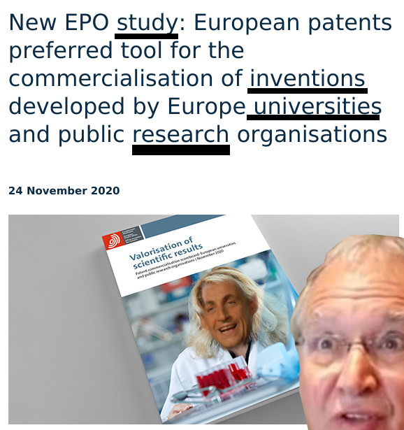 New EPO study: European patents preferred tool for the commercialisation of inventions developed by Europe universities and public research organisations