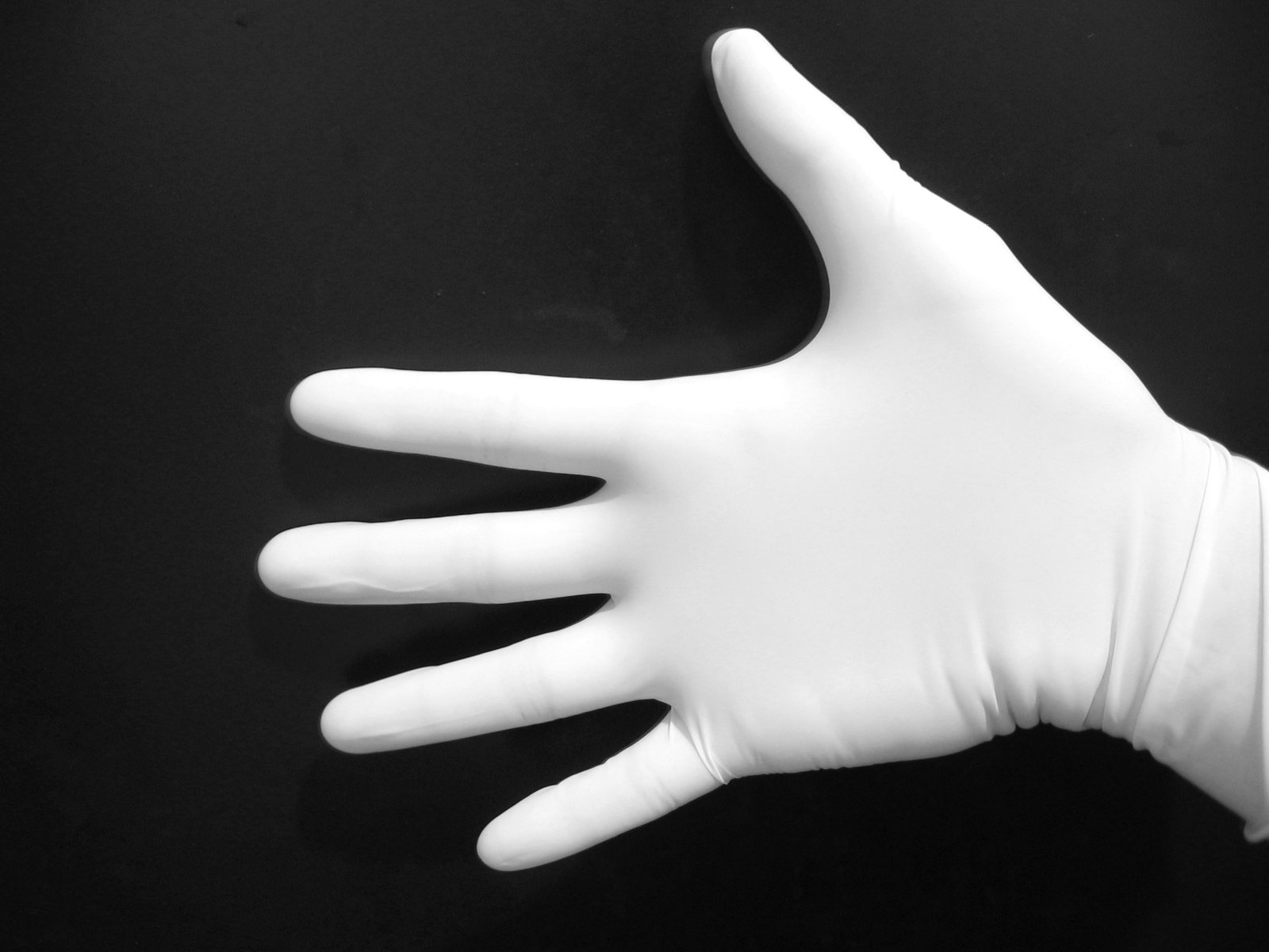 Gloves and hands