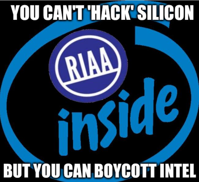 You can't 'hack' Silicon. But you can boycott Intel.