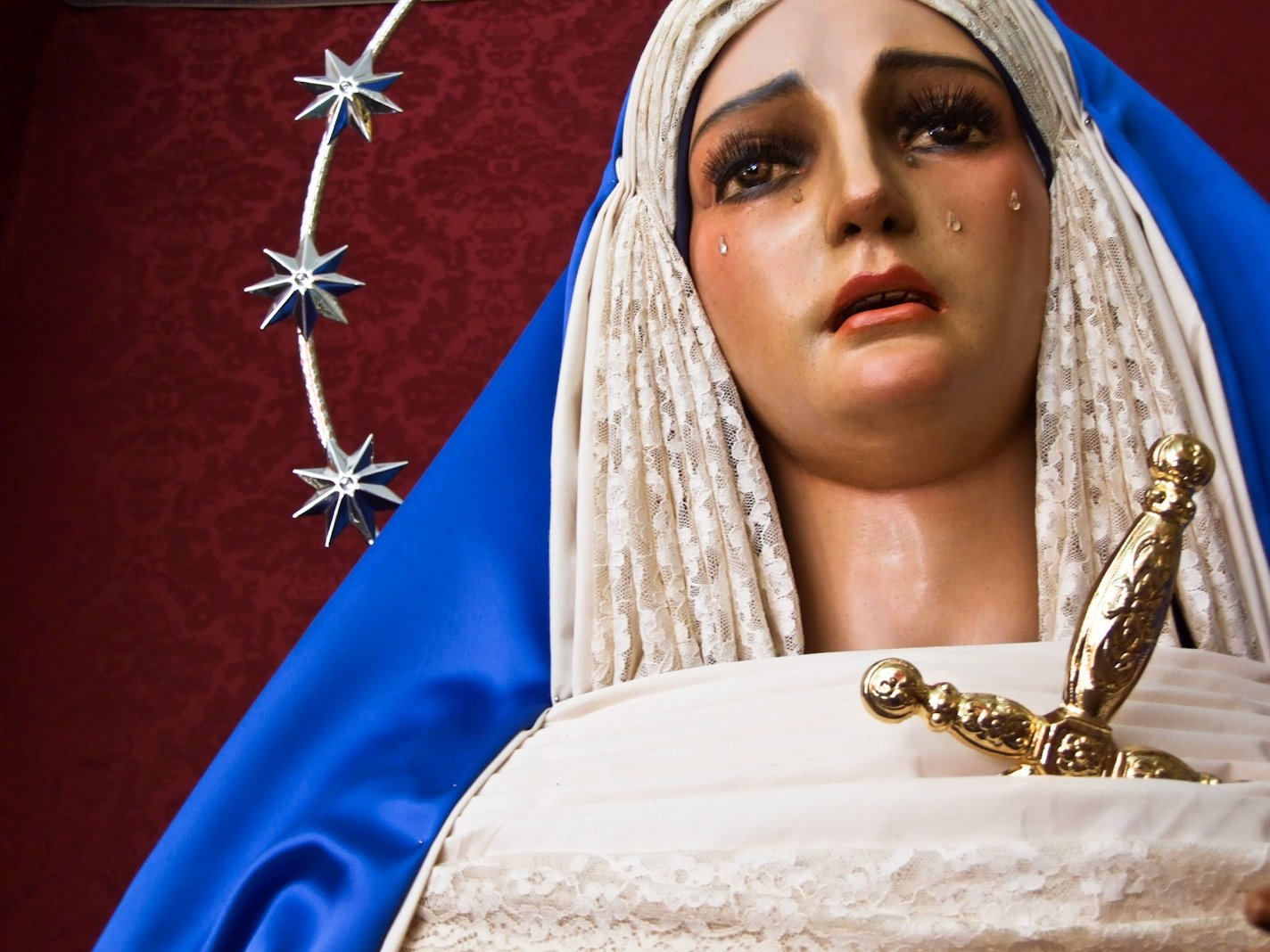 Figure of Virgin Mary. Image taken in Seville, Spain.