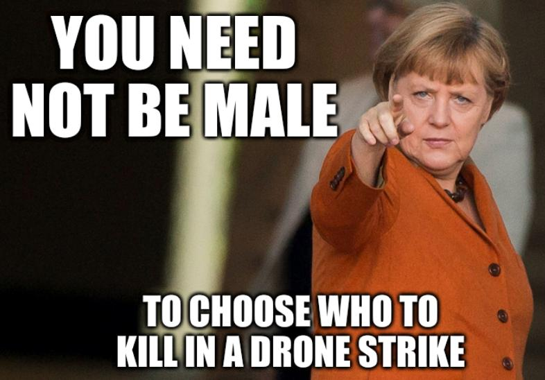 You need not be male to choose who to kill in a drone strike