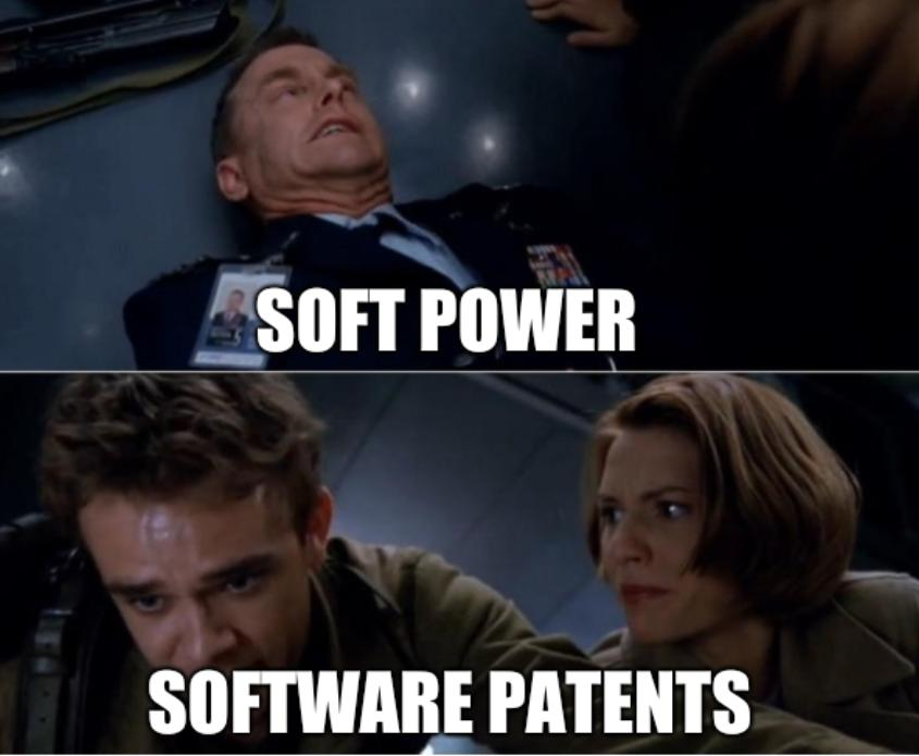 Soft power, software patents