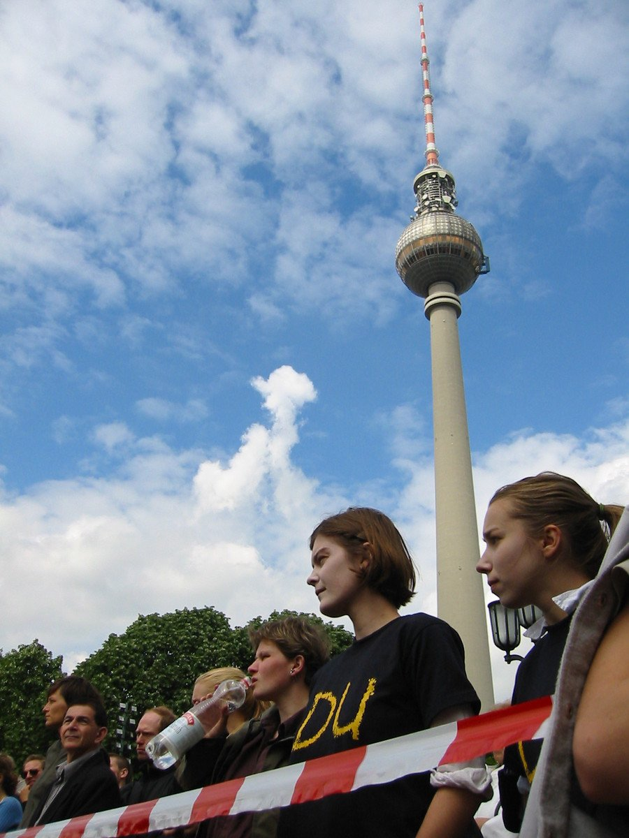 A demonstration or student protests in Berlin