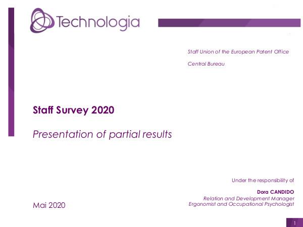 SUEPO survey 1