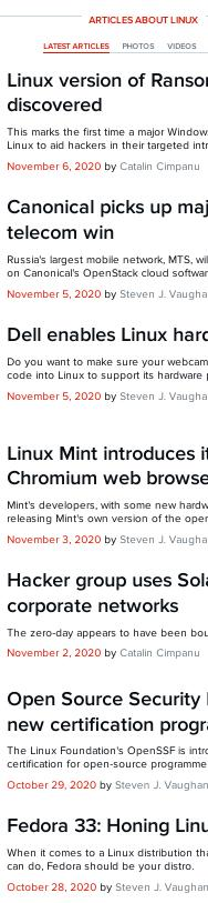 ZDNet latest Linux