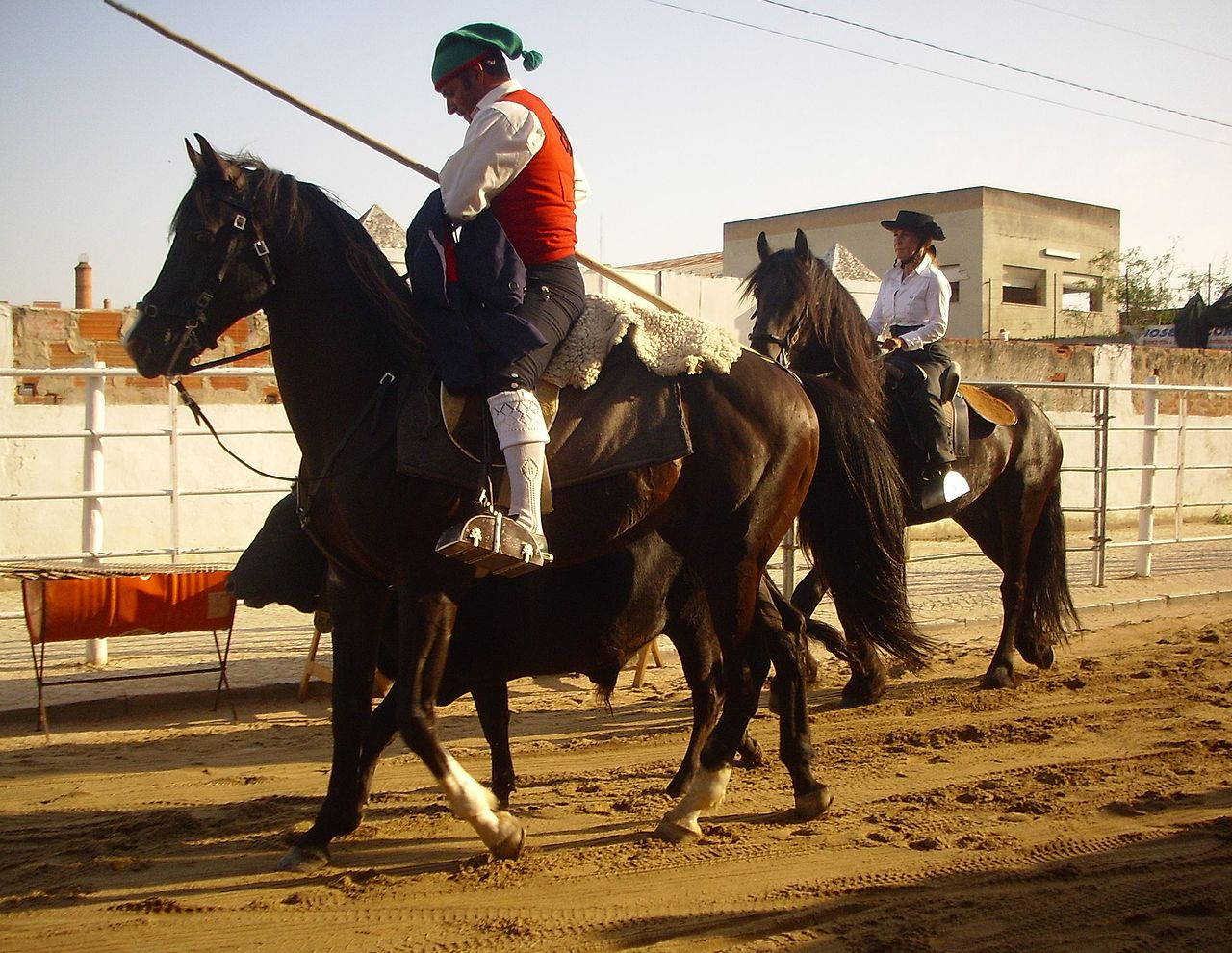 A campino on horseback