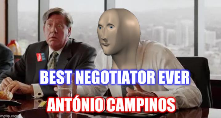 Best negotiator ever, António Campinos