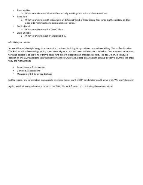 Strategy on GOP 2016ers page 2