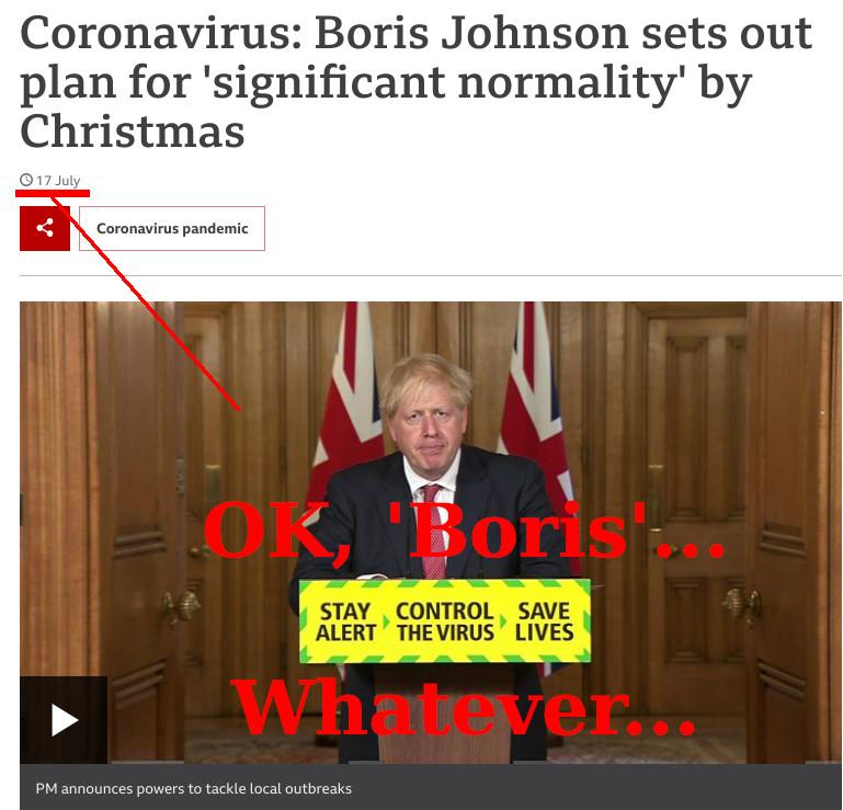 OK, 'Boris'... Whatever...