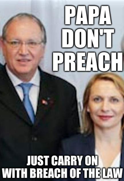 Papa Don't Preach; Just carry on with breach of the law