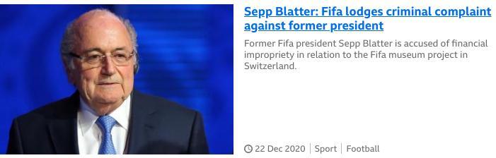 Blatter report