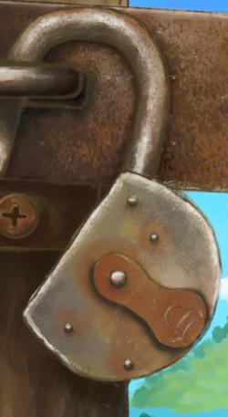 Beyond the lock close-up