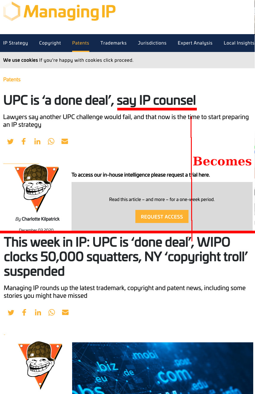 UPC and context