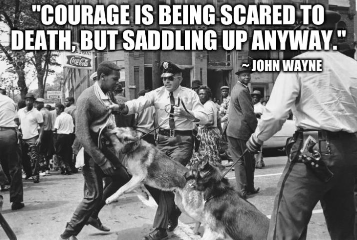 'Courage is being scared to death, but saddling up anyway.'~ John Wayne