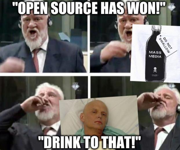 Open Source has won! Drink to that!