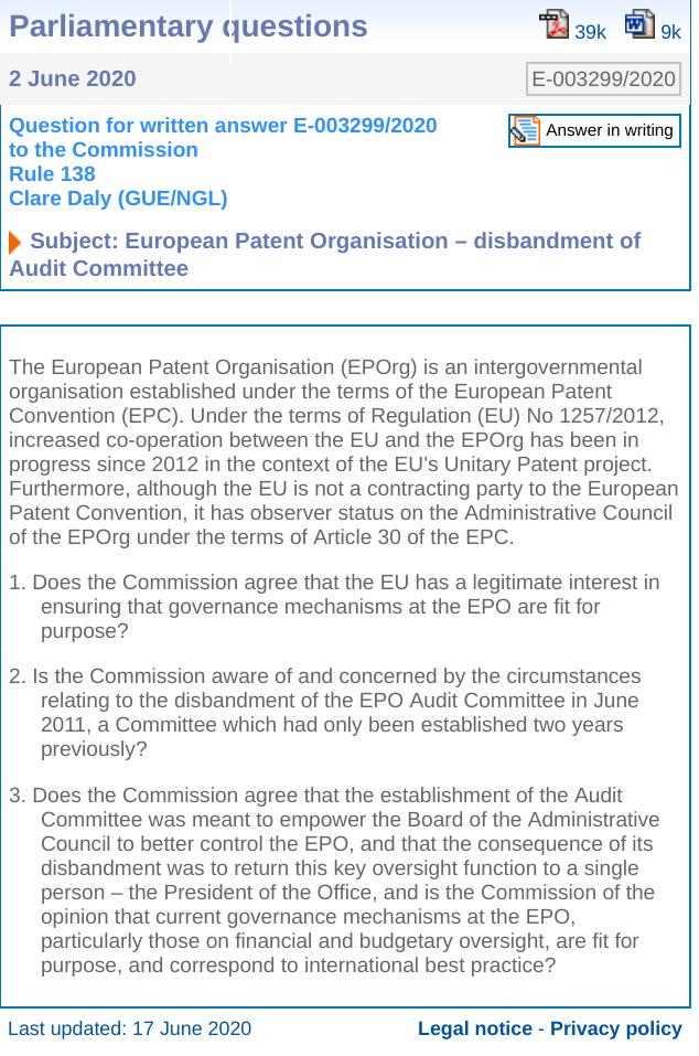 EPO Audit