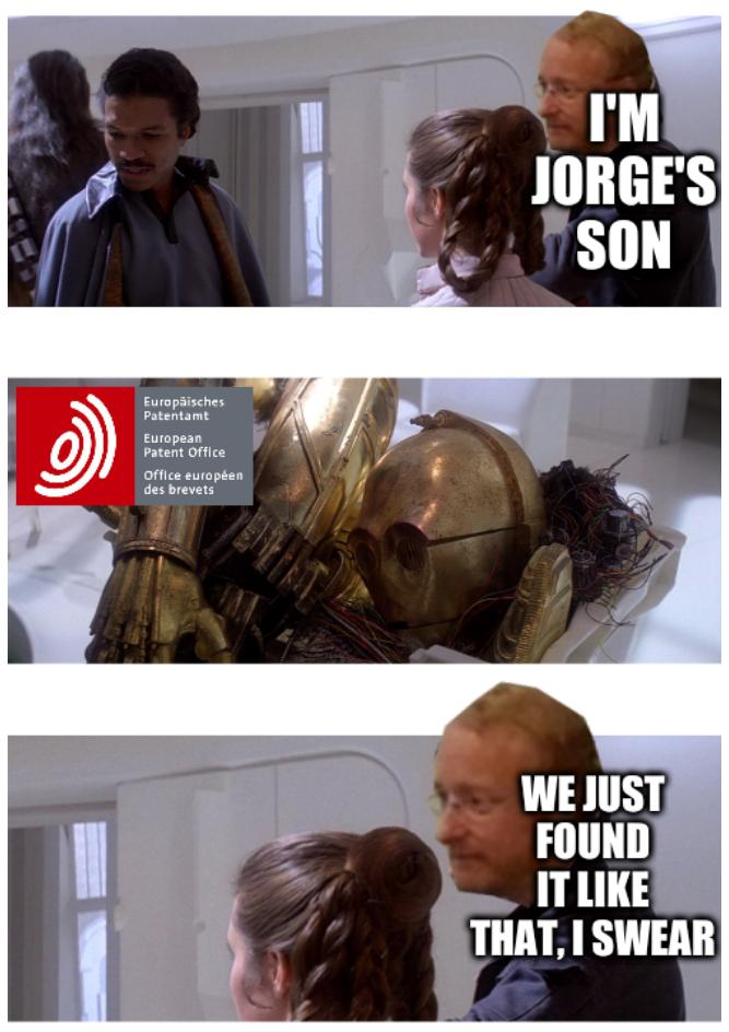 I'm Jorge's son. We just found it like that, I swear.